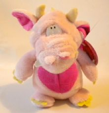 Podgey Dragon Pink, by Keel Toys.